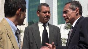 Confused Hispanic Business Men Talking stock video footage