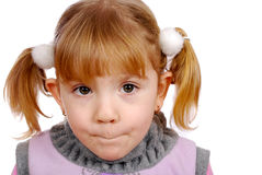 Confused little girl Stock Photography