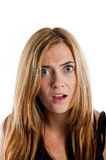 Confused looking woman Royalty Free Stock Images