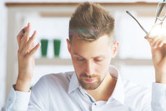 Confused male portrait Royalty Free Stock Image