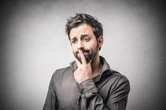 confused man Fotografering för Bildbyråer