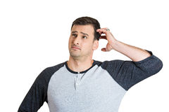 Confused man Royalty Free Stock Image