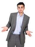 confused man för affär Royaltyfri Fotografi