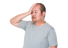 Confused man scratching head Stock Photography