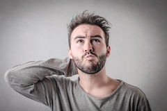 Confused man Stock Photography