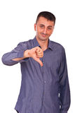 Confused man with thumb down Royalty Free Stock Photo