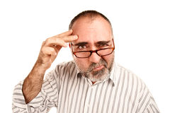 Confused Mature Man Royalty Free Stock Images