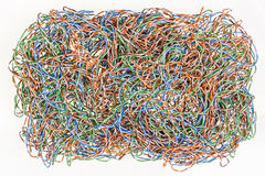Confused mixed computer wires Royalty Free Stock Images