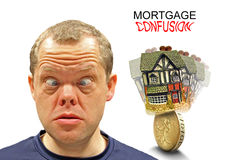 Confused mortgage expression Stock Photo