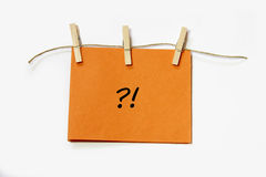 Confused note Stock Images