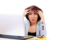 Confused office worker Stock Photo