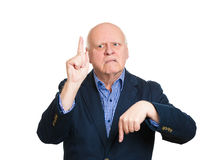 Confused old man Royalty Free Stock Photo