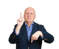 Confused old  man Royalty Free Stock Image