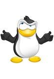 Confused pingvinmaskot - Royaltyfri Fotografi