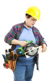 Confused by Power Tools royalty free stock photography