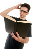 Confused Reader Stock Photo