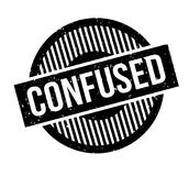 Confused rubber stamp Royalty Free Stock Photos