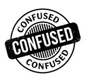Confused rubber stamp Royalty Free Stock Images