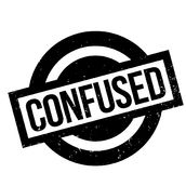 Confused rubber stamp Stock Images
