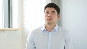 Confused Scared Man Frighten Stock Images
