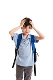Confused schoolboy Stock Photography