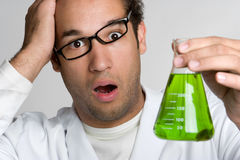 Confused Scientist Stock Photo