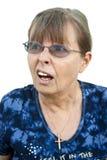 Confused Senior Lady Stock Photo