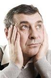 Confused senior man Stock Image