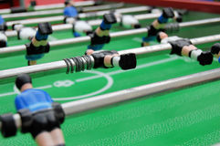 Confused soccer players. Confused and non aligned table soccer players Royalty Free Stock Image