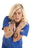 confused stetoskop Arkivfoto