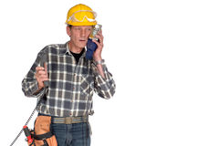 Confused, stressed handyman Stock Photos