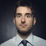 Confused surprised man Stock Photo
