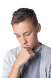 Confused teen boy Royalty Free Stock Photos
