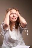 Confused teen schoolgirl Stock Image