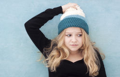 Confused teenage girl Stock Image