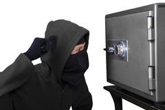 Confused thief Royalty Free Stock Image