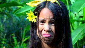 Confused or Thinking Young Girl stock footage