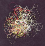 The confused threads. Of different color Royalty Free Stock Photography