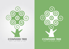 Confused tree. Leaf and green. Stock Images