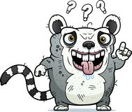 Confused Ugly Lemur Royalty Free Stock Photography