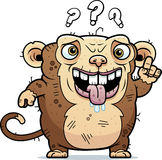 Confused Ugly Monkey Royalty Free Stock Photo