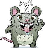 Confused Ugly Rat Royalty Free Stock Image