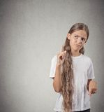 Confused unhappy teenager girl Stock Photo