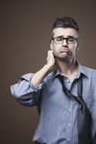 Confused untidy businessman Royalty Free Stock Photo