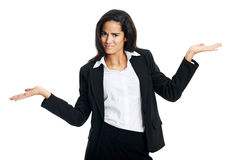 Confused woman Stock Image