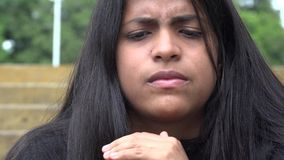 Confused Woman, Confusion, Worry, Anxiety, Stress. Stock video of a woman stock video