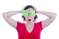 Confused woman royalty free stock image