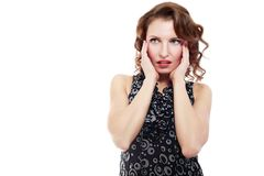 Confused woman Royalty Free Stock Images