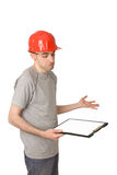 Confused worker Royalty Free Stock Photos