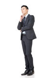 Confused young business man Stock Image